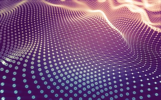 Abstracte achtergrond. moleculentechnologie met veelhoekige vormen, verbindende punten en lijnen