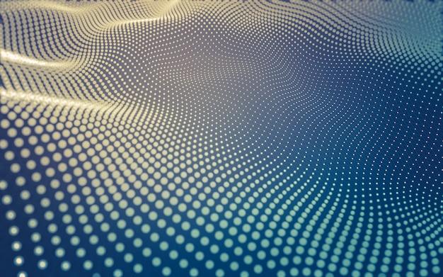 Abstracte achtergrond. moleculetechnologie met veelhoekige vormen, verbindende punten en lijnen