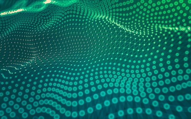 Abstracte achtergrond. molecuultechnologie met veelhoekige vormen
