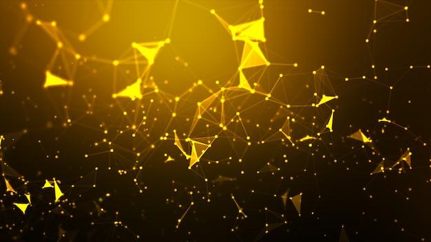 Abstracte achtergrond punt en verbinding lijn voor futuristische cybertechnologie en netwerkverbinding concept draadframe