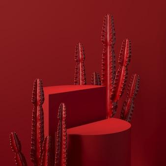Abstracte achtergrond, scène voor productvertoning. 3d-weergave