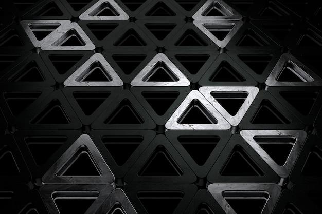 Abstracte achtergrond van de driehoek. 3d-weergave.