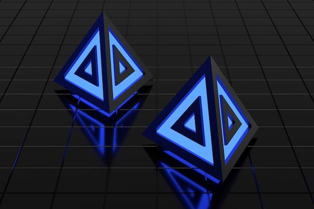Abstracte achtergrond van driehoeksvorm. 3d-weergave.