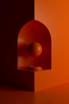 Abstracte achtergrond van geometrische vorm. 3d-weergave