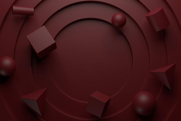Abstracte achtergrond van geometrische vorm. 3d-weergave.