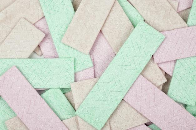 Abstracte achtergrond van kauwgomplaten