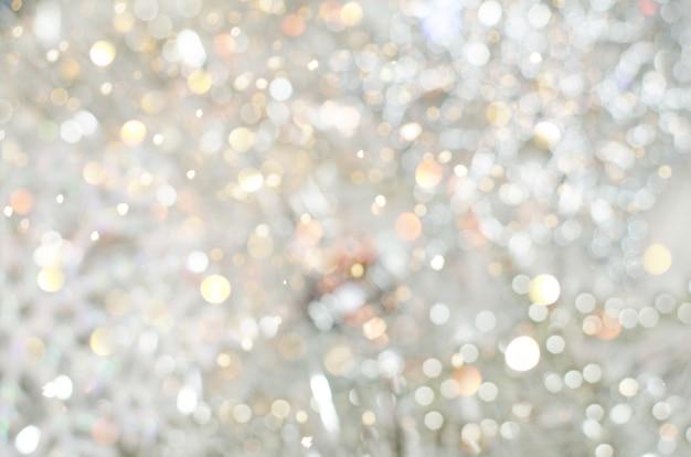 Abstracte achtergrond van kerstmis en nieuwjaarlichten bokeh