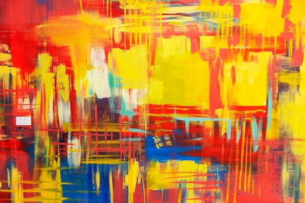 Abstracte achtergrond van kleurrijk geschilderd op betonnen muur.