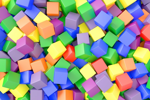 Abstracte achtergrond van kubussen. 3d-weergave