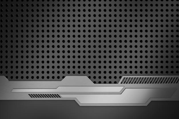Abstracte achtergrond van metaal. 3d-weergave
