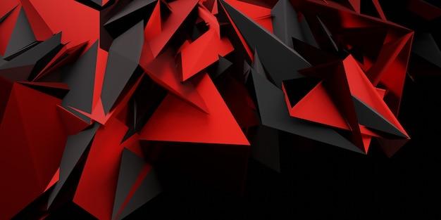Abstracte achtergrond van moderne technologie futuristische gaming social media banner template 3d