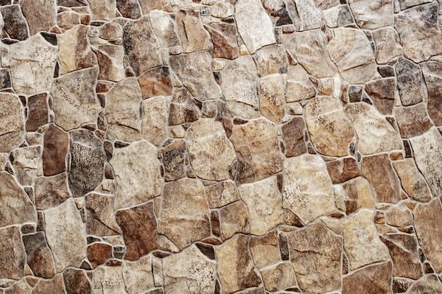 Abstracte achtergrond van oud bruin baksteenpatroon op muur.