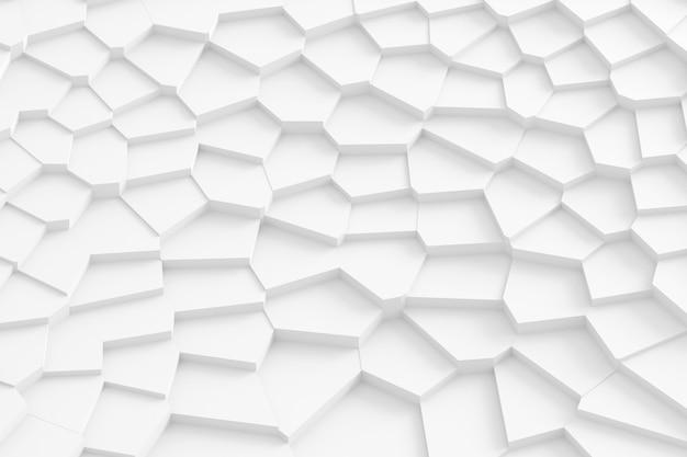 Abstracte achtergrond van rechte lijnen die het oppervlak ontleden in afzonderlijke delen 3d illustratie