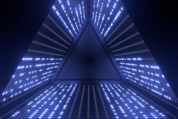Abstracte achtergrond van sci-fi-scène. 3d-weergave.