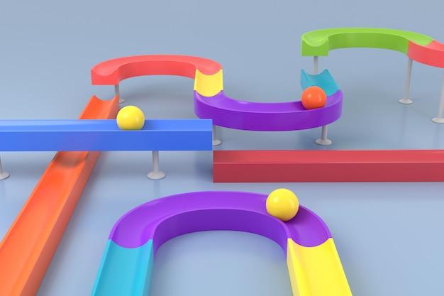 Abstracte achtergrond van speelgoed. 3d-weergave