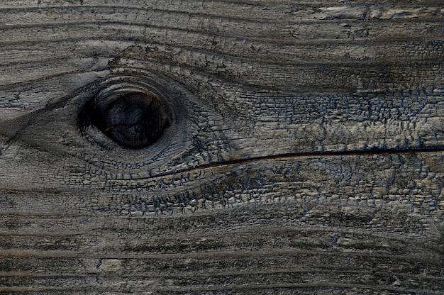 Abstracte achtergrond van verbrande houten plank. close-up bovenaanzicht voor kunstwerken.