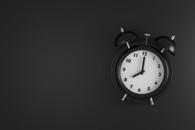 Abstracte achtergrond van wekker. 3d-weergave.