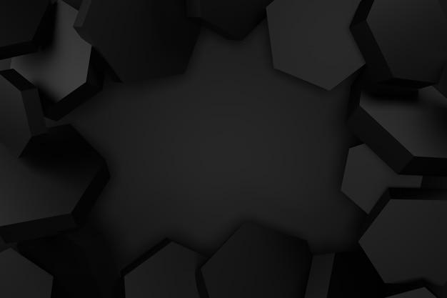 Abstracte achtergrond van zeshoekige vorm. 3d-weergave.