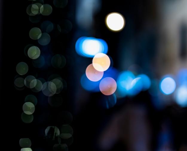 Abstracte achtergrond wazig blauwe bokeh