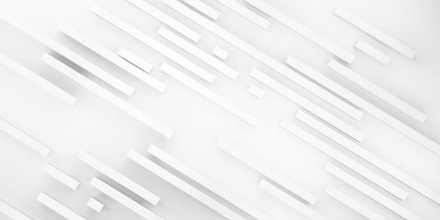Abstracte achtergrond witte matte vierkante staven op witte 3d illustratie als achtergrond