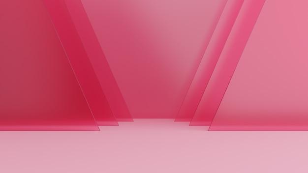 Abstracte achtergrond zacht roze, studio. 3d-weergave