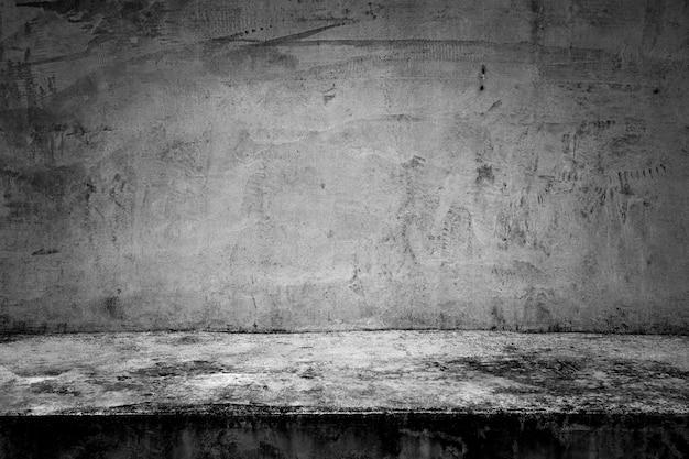 Abstracte achtergrond zwarte ruimte donkere concrete muur en vloer