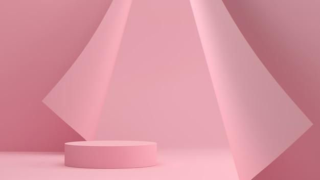 Abstracte achtergrondscène voor productvertoning. 3d-weergave