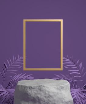 Abstracte achtergrondscène voor productvertoning.