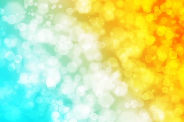 Abstracte achthoek bokeh achtergrond blauw oranje verloop