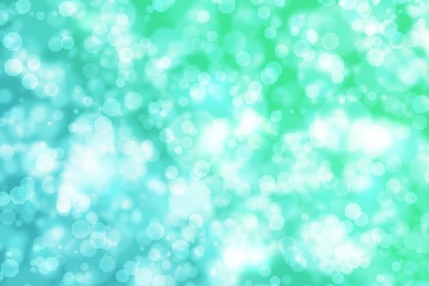 Abstracte achthoek bokeh achtergrond groen blauw verloop