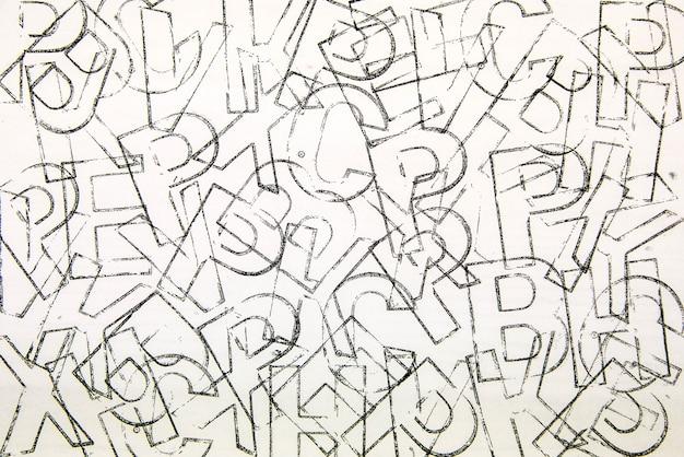Abstracte alfabet achtergrond