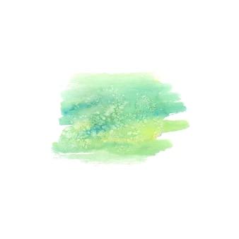 Abstracte aquarel handgeschilderde plek. aquarel ontwerpelement. aquarel groene achtergrond.