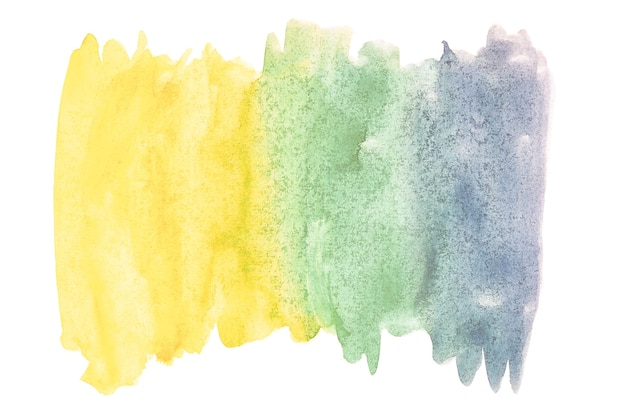 Abstracte aquarel kunst hand verf op geïsoleerde witte achtergrond. aquarel achtergrond.