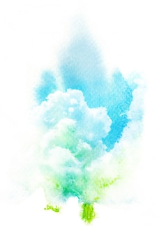 Abstracte aquarel penseelstreek
