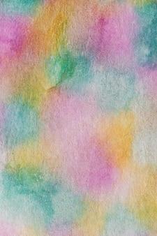 Abstracte aquarelle van de regenboog met de hand gemaakte techniek