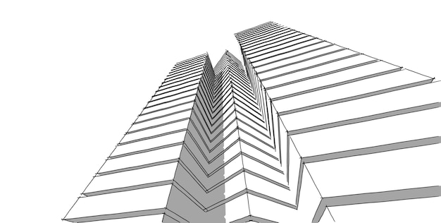 Abstracte architecturale tekening