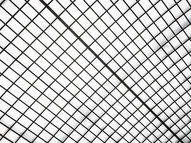 Abstracte architectuur van de buitenkant van het glasdak