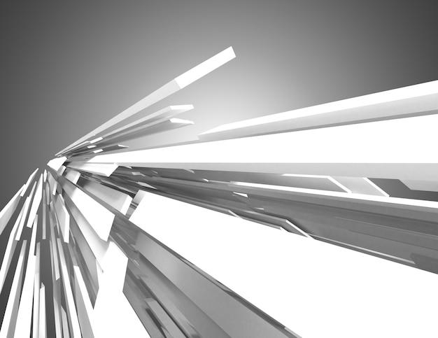 Abstracte architectuurachtergrond. 3d illustratie