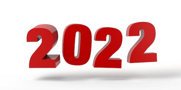 Abstracte banner van het jaar 2022. oudejaarsavond. ruimte kopiëren. 3d illustratie.