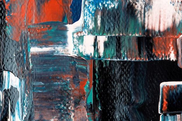 Abstracte behangachtergrond, getextureerde acrylverf met gemengde kleuren