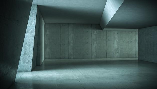 Abstracte betonnen interieur. niemand in de buurt. 3d render