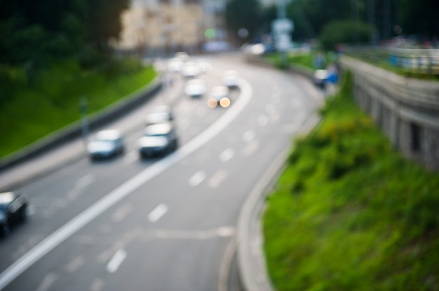 Abstracte beweging van verkeer in de stad vervagen