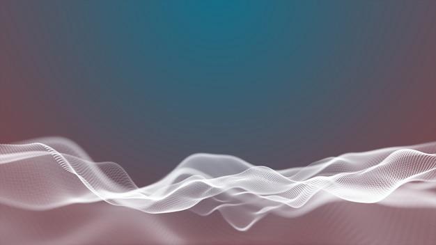 Abstracte bewegingsachtergrond digitaal golvend oppervlak