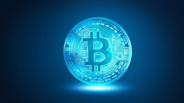 Abstracte bitcoin-grafiek. 3d-afbeelding.