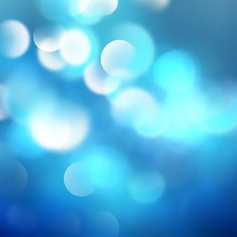 Abstracte blauwe achtergrond met bokeh-effect
