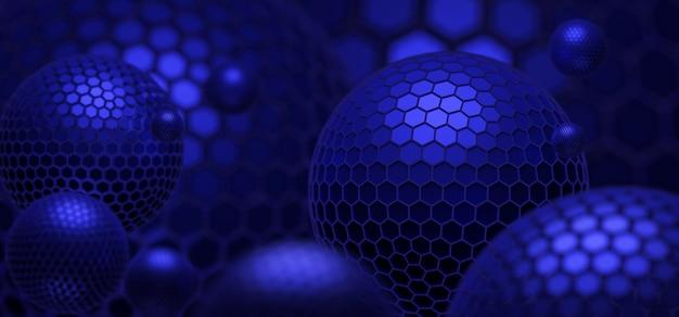 Abstracte blauwe achtergrond met bol