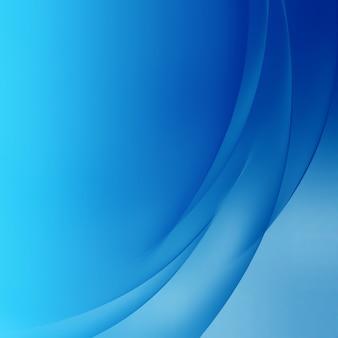 Abstracte blauwe achtergrond met vloeiende lijnen