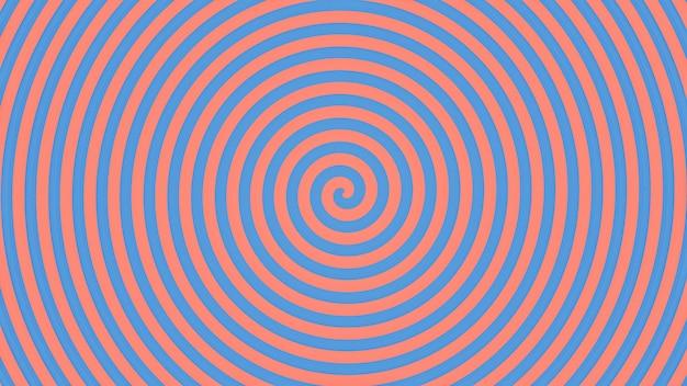 Abstracte blauwe en roze spiraalvormige achtergrond