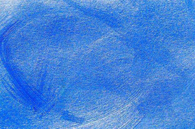 Abstracte blauwe hand getekend acryl schilderij achtergrond