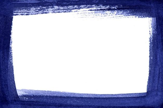 Abstracte blauwe kleur verf. blauwe penseelstreek achtergrond en frame.